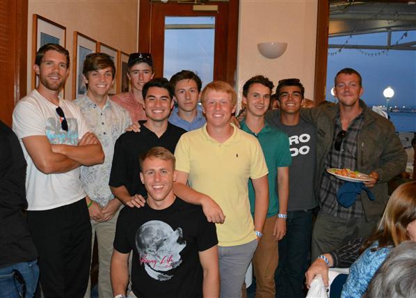 Boys at banquet